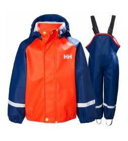 Conjunto chubasquero K Bergen Pu naranja, azul - Helox + -