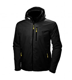 Helly Hansen Crew Hooded Jacket Midlayer black -Helly Tech® Protection-