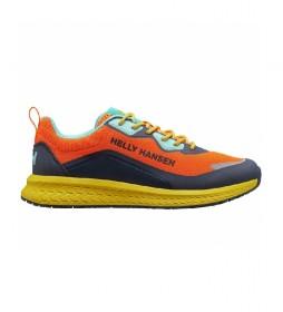 Zapatillas EQA naranja, azul, amarillo