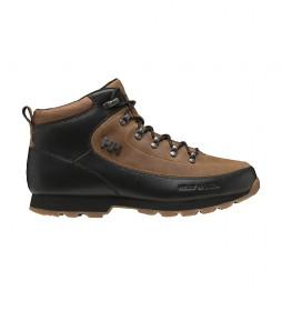 Botas de piel The Forester negro, marrón