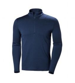 Helly Hansen Camiseta HH Lifa Merino 1/2 ZIP marino
