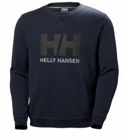 Helly Hansen Sudadera HH Logo Crew azul oscuro