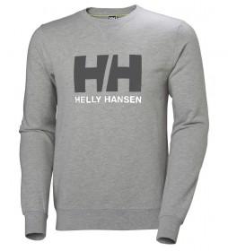 Helly Hansen Felpa HH Logo Crew grigio