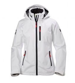 Helly Hansen Chaqueta W Crew Hooded blanco /Helly Tech® Protection/Polartec®/DWR/
