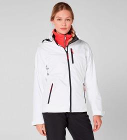 Chaqueta W Crew Hooded Midlayer blanco