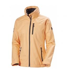 Cahqueta W Crew Hooded Midlayer naranja / Helly Tech® / DWR / Polartec® /
