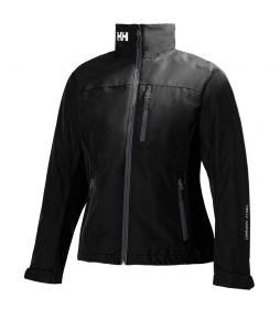 Chaqueta W Crew Midlayer negro -Helly Tech® Protection-