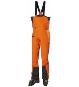 Peto Pantalón de Esquí Sogn Bib Shell naranja