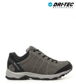 Hi-tec  Zapatillas de serraje trekking Libero WP gris -Dri-Tec / MDT-