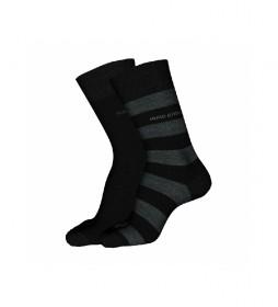 Pack de 2 Calcetines Block Stripe CC 10233442 01 gris, negro