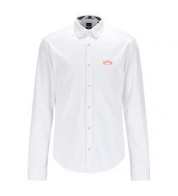 Camisa Regular Fit Logo blanco