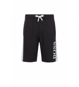 Shorts Homewear en Mezcla de Algodón con Punto Doble negro