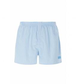 Pack de 2 Shorts de Pijama de Popelín NOS azul