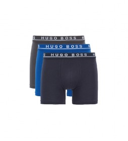Pack de 3 Boxer Brief CO/EL 50325404 azul, marino, gris