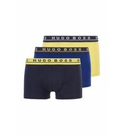 Pack de 3 Boxers 50325791 azul, amarillo