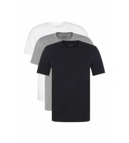 Pack de 3 Camisetas 50325385 blanco, gris, negro