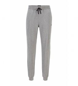 Pantalón Homewear en Algodón Elástico con Logo gris