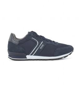 Zapatillas de piel Parkour Runn azul