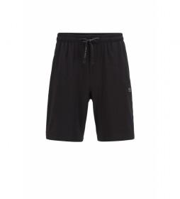 Shorts Homewear de Algodón Mix&Match; negro