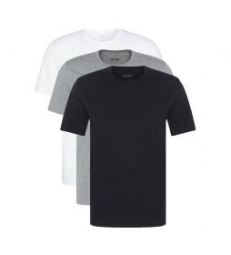 Pack de 3 Camisetas RN CO 50325388 negro, gris, blanco