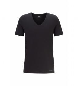 Camiseta Interior Cuello de Pico con Acabado Coomax negro