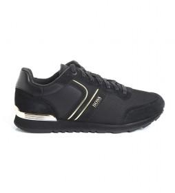 Zapatillas de piel Parkour Runn negro