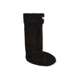 Calcetines de punto Inglés Perlado Half Cardigan negro