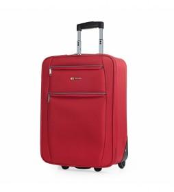 Maleta Cabina de Viaje 2 Ruedas T71950 rojo -55x39x18cm-