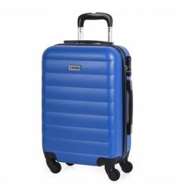 Maleta Cabina de Viaje Rígida 4 Ruedas Trolley 71250 azul -55x38x20cm-