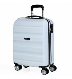 Maleta de Viaje Cabina Trolley ABS T71650 blanco -55x40x20cm-