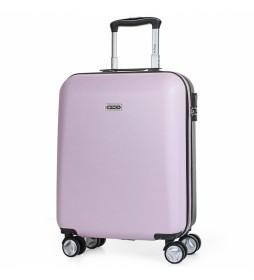Maleta de Viaje Cabina de  4 Ruedas T58050 rosa -55x40x20cm-