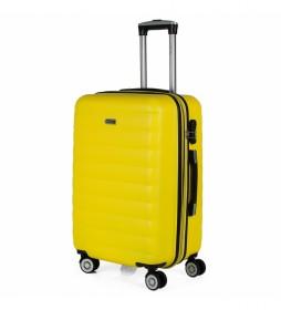 Maleta de Viaje Rígida 4 Ruedas Mediana Trolley 71260 amarillo -65x42x26cm-