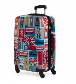 Maleta de Viaje Mediana Estampado Londres multicolor -64x45x25cm-