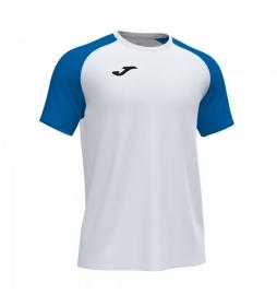 Camiseta Manga Corta  Academy IV blanco, azul