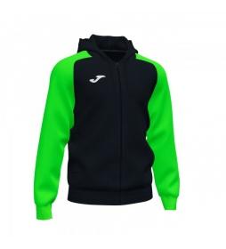 Chaqueta con Capucha Academy IV Zip-Up negro, verde fluor