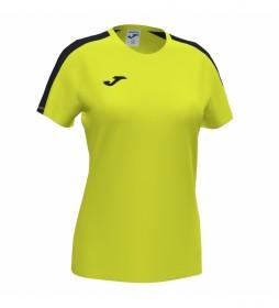 Camiseta Academy amarillo flúor, negro