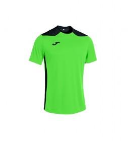 Camiseta Championship VI Manga Corta verde fluor