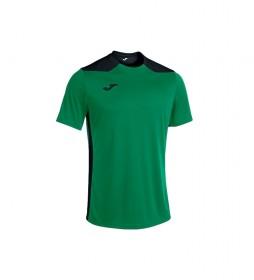 Camiseta Championship VI Manga Corta verde, negro