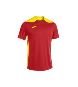 Camiseta Championship VI Manga Corta rojo, amarillo