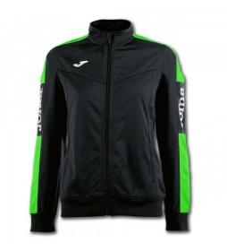 chaqueta Champion IV negro, verde fluor