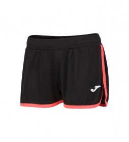 Shorts Levante negro, coral