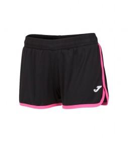 Shorts Levante negro, rosa