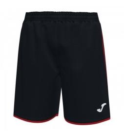 Shorts Liga negro, rojo