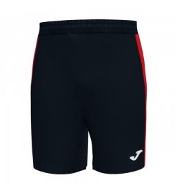 Shorts Maxi negro, rojo
