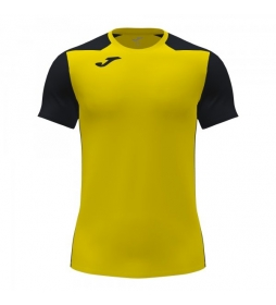 Camiseta Manga Corta Record II amarillo, negro