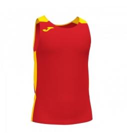 Camiseta Record II rojo, amarillo