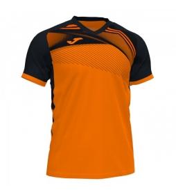 Camiseta Supernova II negro, naranja