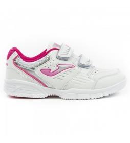 Zapatillas School Jr blanco, rosa