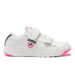 Zapatillas Play JR 2152 blanco, rosa