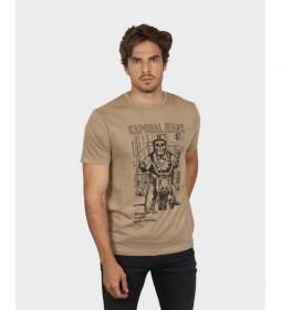 Camiseta Rondi beige